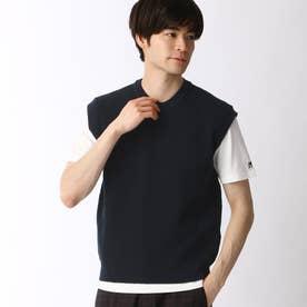 ニットベスト&Tシャツセット (67ネイビー)