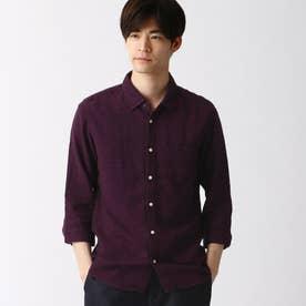 リネン7ブシャツ (07ボルドー)