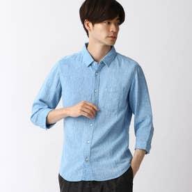 リネン7ブシャツ (60ブルー)