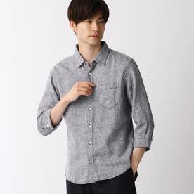 リネン7ブシャツ (67ネイビー)