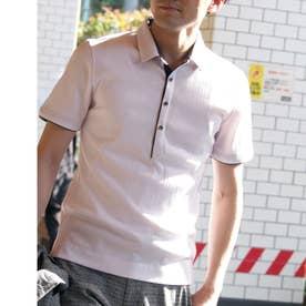 シルケットランダムテレコポロシャツ (09ホワイト)