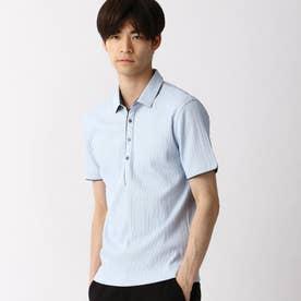 シルケットランダムテレコポロシャツ (64サックス)
