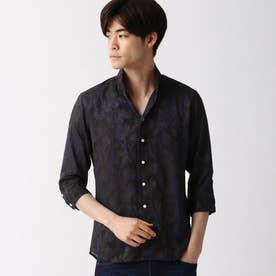 ボタニカル柄カットジャカード七分袖シャツ (91その他2)