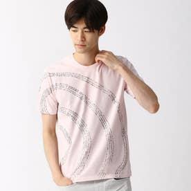 渦巻ロゴプリントTシャツ (08ピンク)