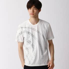 渦巻ロゴプリントTシャツ (09ホワイト)