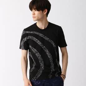 渦巻ロゴプリントTシャツ (49ブラック)