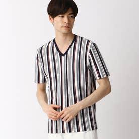 マルチストライプVネックTシャツ (91その他2)