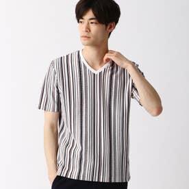 マルチストライプVネックTシャツ (92その他3)