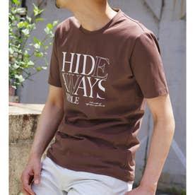 ダブルシルケットロゴプリントTシャツ (13ブラウン)