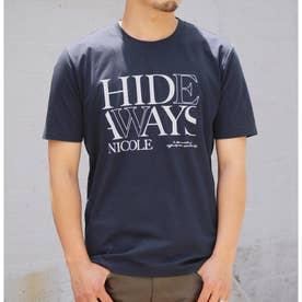 ダブルシルケットロゴプリントTシャツ (67ネイビー)