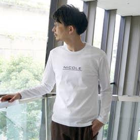ダブルシルケットロゴプリント長袖プルオーバー (91その他2)