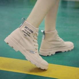 スニーカー 靴 シューズ カジュアル ハイカット ブーツ (グレー)