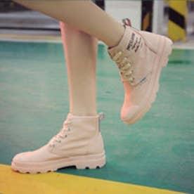 スニーカー 靴 シューズ カジュアル ハイカット ブーツ (ピンク)