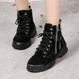 ブーツ 靴 シューズ ショートブーツ カジュアル (ブラック)