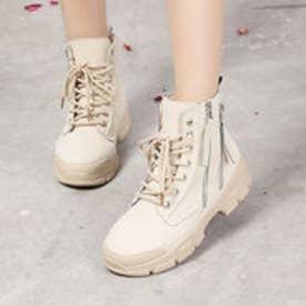 ブーツ 靴 シューズ ショートブーツ カジュアル (ベージュ)