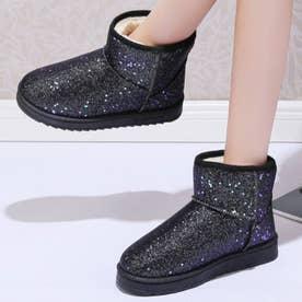 ブーツ 靴 シューズ ショートブーツ ムートンブーツ (ブラック)