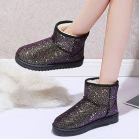 ブーツ 靴 シューズ ショートブーツ ムートンブーツ (ゴールド)