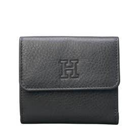 【センプレ】折財布 (ダークグレー)