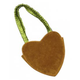 heart velvet bag (mustard)