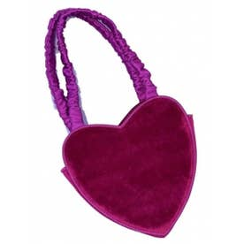 heart velvet bag (purple)