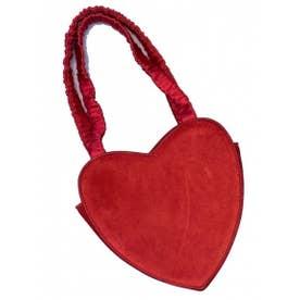 heart velvet bag (red)