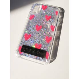 glitter heart iPhone case (aurora)