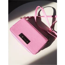 plate logo book wallet case (pink)
