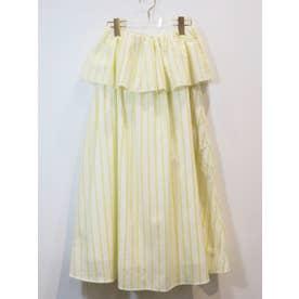 dobby cotton skirt (yellow)