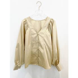 puffsleeve blouse (beige)