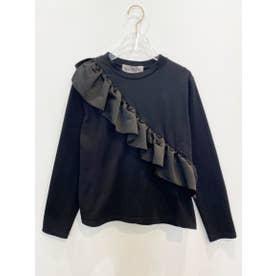 satinfrill longT-shirt (black)
