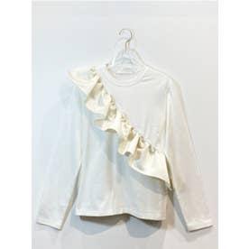 satinfrill longT-shirt (white)