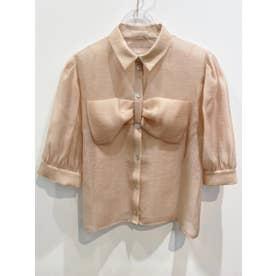 organdie ribbon blouse (pink)