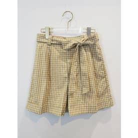 ginghamcheck shortpants (beige)