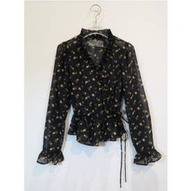 rose cache-coeur blouse (black)