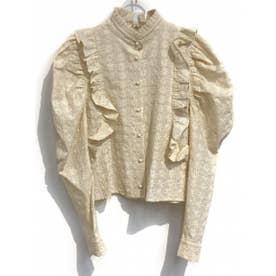 lace cotton blouse (beige)