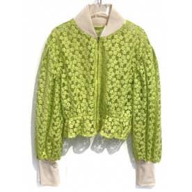 flower organdie blouson (lightgreen)