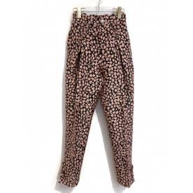 flower jacquard pants (black)