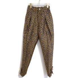 flower jacquard pants (navy)