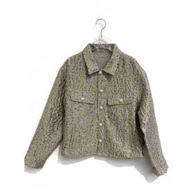 flower jacquard jacket (lightgreen)