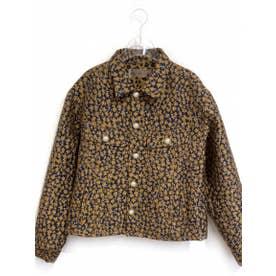 flower jacquard jacket (navy)