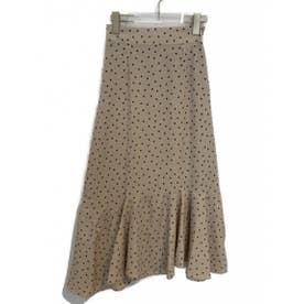 dot flared skirt (offwhite)