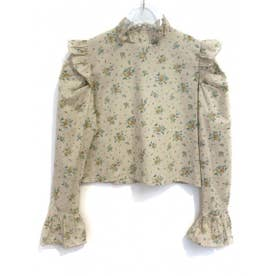 rose puffsleeve blouse (beige)