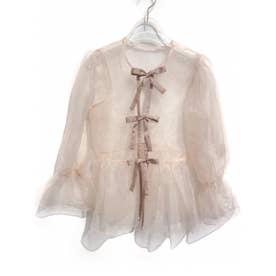 ribbon organdie blouse (pink)