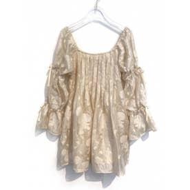 sheer jacquard tunic (offwhite)