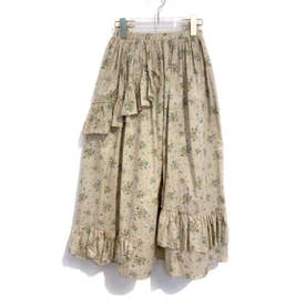 rose tiered skirt (beige)
