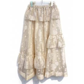 sheer jacquard skirt (offwhite)