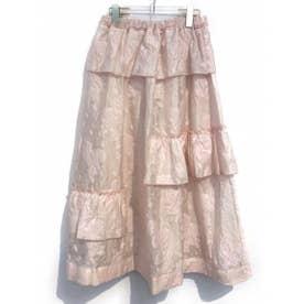 sheer jacquard skirt (pink)