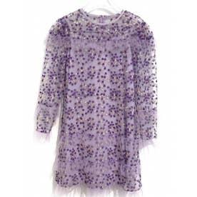 flower tulle one-piece (purple)