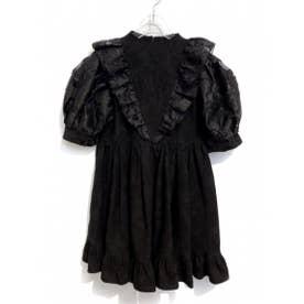 jacquard organdie one-piece (black)