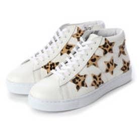 スター ハイカットスニーカー (White/Leopard)